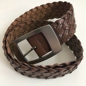 Calvin Klein | brown leather size small belt